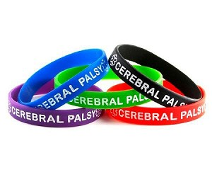 Cerebral Palsy Silicone Wristband Bracelet MULTI-PACK