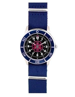 Men S Nato Medical Id Sport Watch Blue