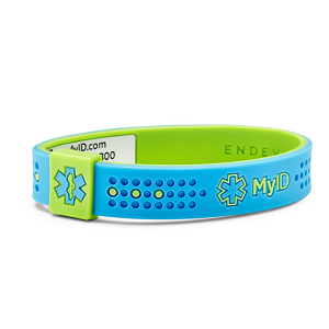 MyID Sport Medical Bracelet - Blue and Green