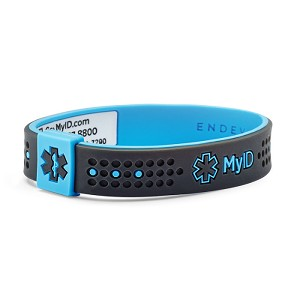MyID Sport Medical Bracelet - Gray and Blue