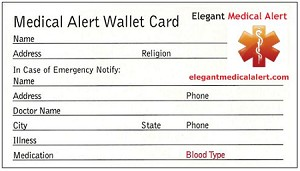 Free Medical ID Wallet Card
