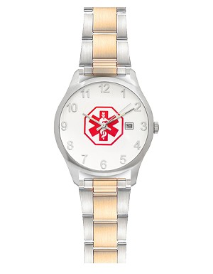 Men's Medical ID Link Watch - Two Tone