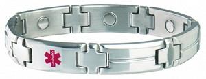 Men's Sabona Magnetic Medical ID Bracelet - DIABETIC