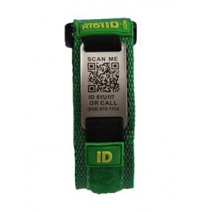 SmartKidsID Child ID and Medical ID Sport Bracelet - GREEN