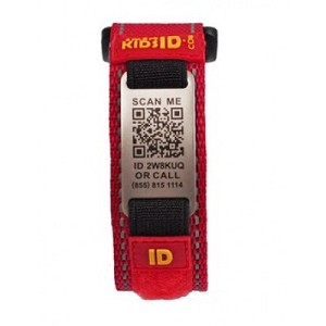 SmartKidsID Child ID and Medical ID Sport Bracelet - RED