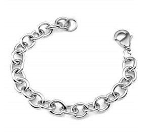Stainless Steel Link Bracelet for Clip On Charms